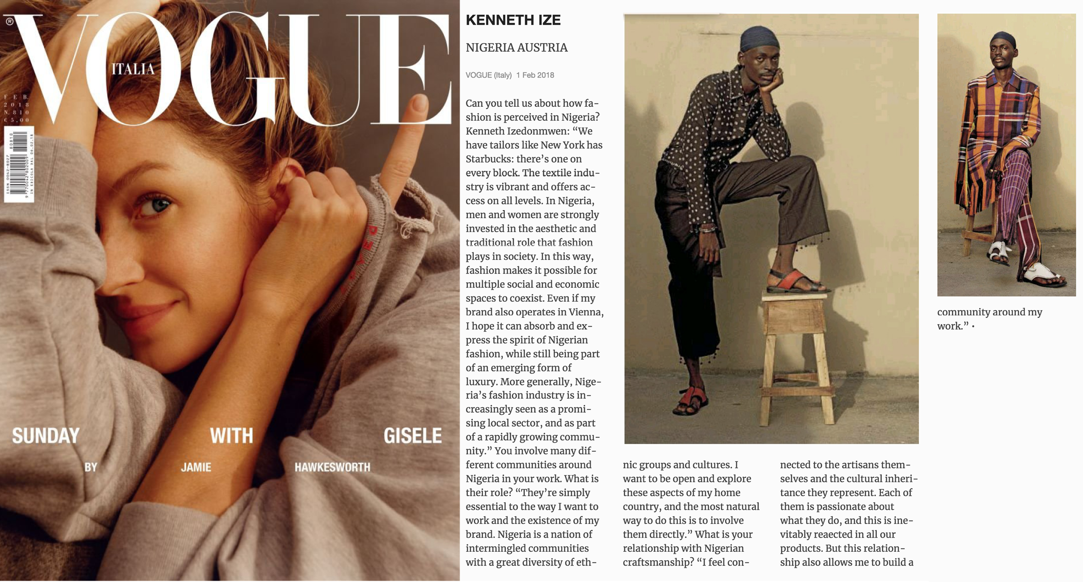 kenneth ize vogue italia february 2018